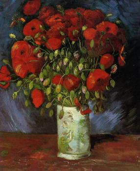 Vincent Van Gogh : Vase with Red Poppies