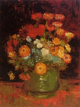 Vincent Van Gogh : Vase with Zinnias