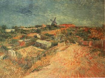 Vincent Van Gogh : Vegetable Gardens in Montmartre II