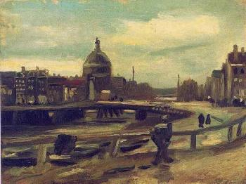 Vincent Van Gogh : View of Amsterdam from Central Station