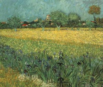 Vincent Van Gogh : View of Arles with Irises in the Foreground
