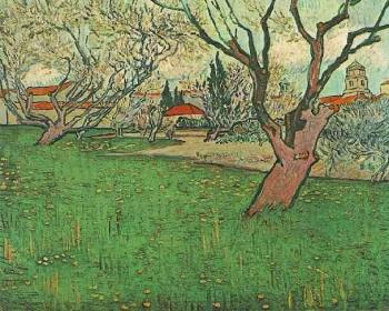 Vincent Van Gogh : View of Arles with Tress in Blossom