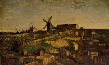 Vincent Van Gogh : View of Montmartre with Windmills