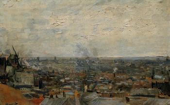 Vincent Van Gogh : View of Paris from Montmartre