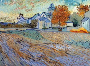 Vincent Van Gogh : View of the Church of Saint-Paul-de-Mausole