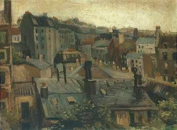 Vincent Van Gogh : View of the Roofs of Paris