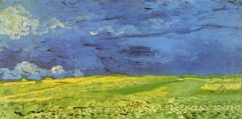 Vincent Van Gogh : Wheat Field under Clouded Sky