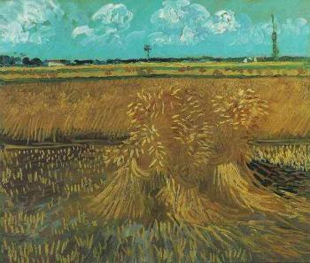 Vincent Van Gogh : Wheat Field with Sheaves II