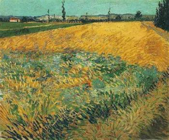 Vincent Van Gogh : Wheat Field with the Alpilles Foothills in the Background