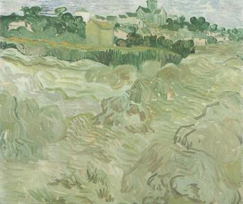 Vincent Van Gogh : Wheat Fields with Auvers in the Background