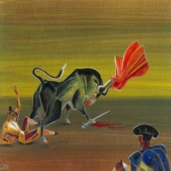 Gosta Adrian-Nilsson : Scene from a bullfighting area