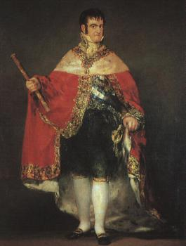 Francisco De Goya : Ferdinand 7 in his Robes of State