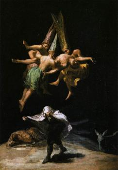 Francisco De Goya : Witches in the Air