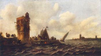 Jan Van Goyen : A View on the Maas near Dordrecht