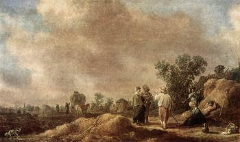 Jan Van Goyen : Haymaking