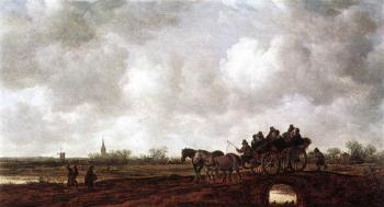 Jan Van Goyen : Horse Cart on a Bridge