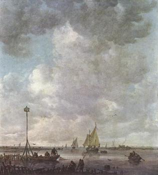 Jan Van Goyen : Marine Landscape with Fishermen