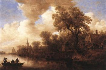 Jan Van Goyen : River Scene