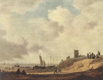 Jan Van Goyen : Seashore at Scheveningen