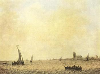 Jan Van Goyen : View of Dordrecht from the Oude Maas