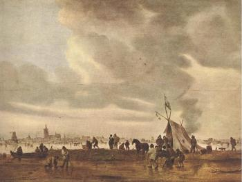 Jan Van Goyen : View of The Hague in Winter