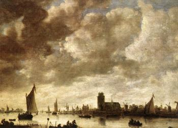 Jan Van Goyen : View of the Merwede before Dordrecht