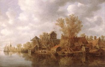 Jan Van Goyen : Village at the River