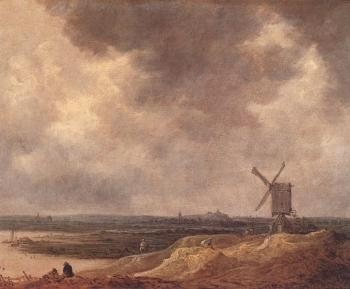 Jan Van Goyen : Windmill by a River