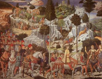 Benozzo Di Lese Di Sandro Gozzoli : Procession of the Youngest King (east wall)