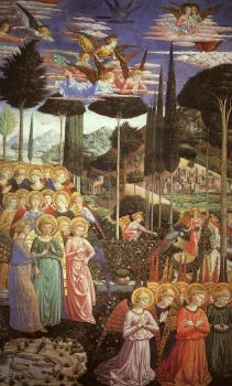 Benozzo Di Lese Di Sandro Gozzoli : Angels Worshipping (left side of the chancel)