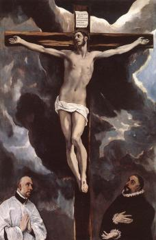 El Greco : Christ on the Cross Adored by Donors