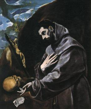 El Greco : St Francis Praying
