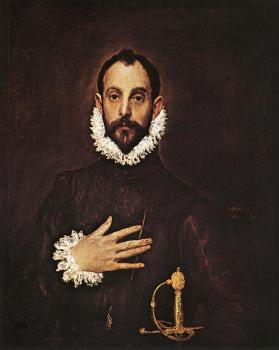 El Greco : The Knight with His Hand on His Breast