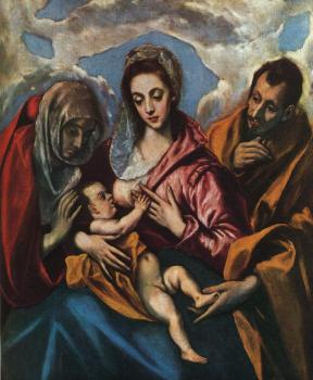 El Greco : Holy Family (The Virgin of the Good Milk)
