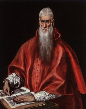 El Greco : Saint Jerome as a Cardinal