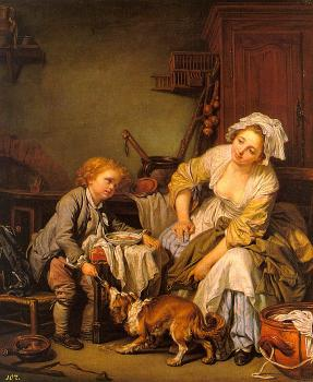 Jean-Baptiste Greuze : The Spoiled Child