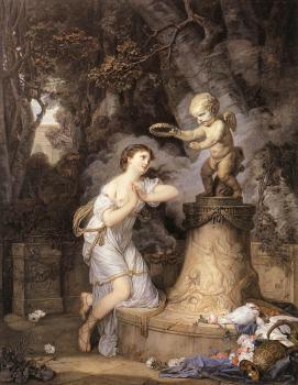 Jean-Baptiste Greuze : Votive Offering to Cupid