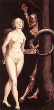 Hans Baldung Grien : Eve, the Serpent, and Death