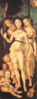 Hans Baldung Grien : Three Ages of Man and Three Graces II