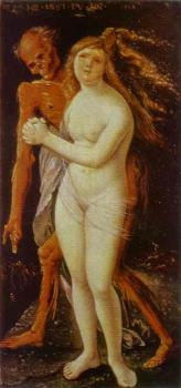 Hans Baldung Grien : Young woman and death