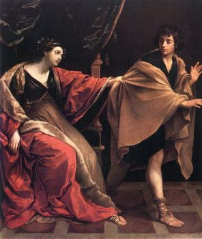 Guido Reni : Joseph and Potiphars Wife