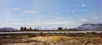 Paul-Camille Guigou : Landscape, the Banks of the Durance