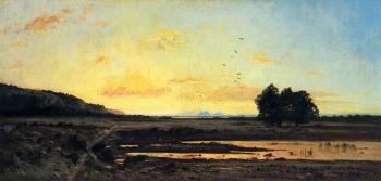 Paul-Camille Guigou : Rememberance of la Caru, Sunset