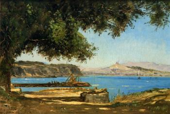 Paul-Camille Guigou : Tamaris by the Sea at Saint-Andre near Marseille