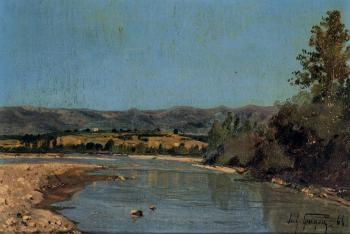 Paul-Camille Guigou : The Banks of the Durance at Puivert 1
