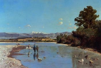 Paul-Camille Guigou : The Banks of the Durance at Puivert 2