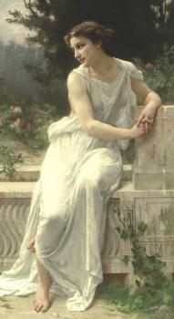 Young woman of Pompeii on a terrace