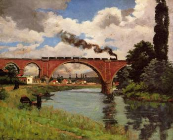 Armand Guillaumin : Bridge over the Marne at Joinville