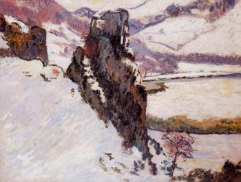 Armand Guillaumin : Landscape, The Creuse in the Snow