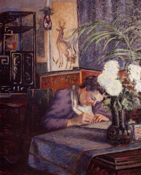 Armand Guillaumin : Madame Guillaumin Writing